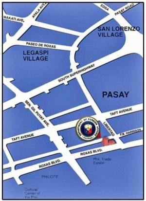 Department of Foreign Affairs (DFA) Manila Branch Map